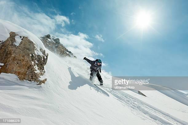 Snowboarder in jump