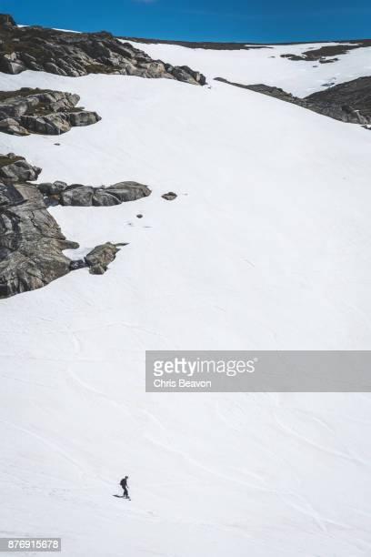 Snowboarder in the Australian Alps