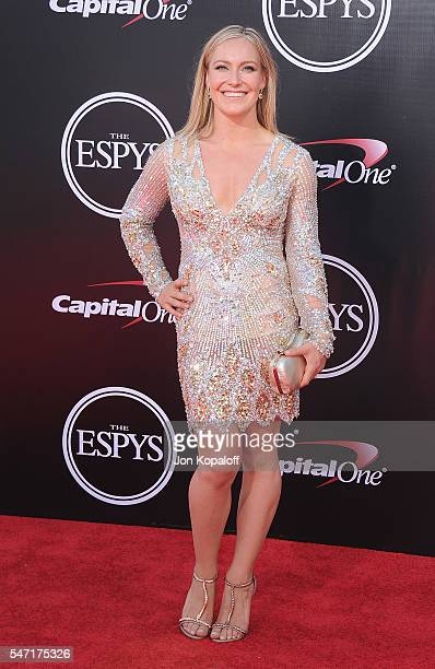 Snowboarder Jamie Anderson arrives at The 2016 ESPYS at Microsoft Theater on July 13 2016 in Los Angeles California