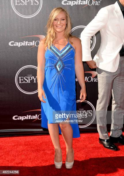 Snowboarder Jamie Anderson attends The 2014 ESPYS at Nokia Theatre LA Live on July 16 2014 in Los Angeles California