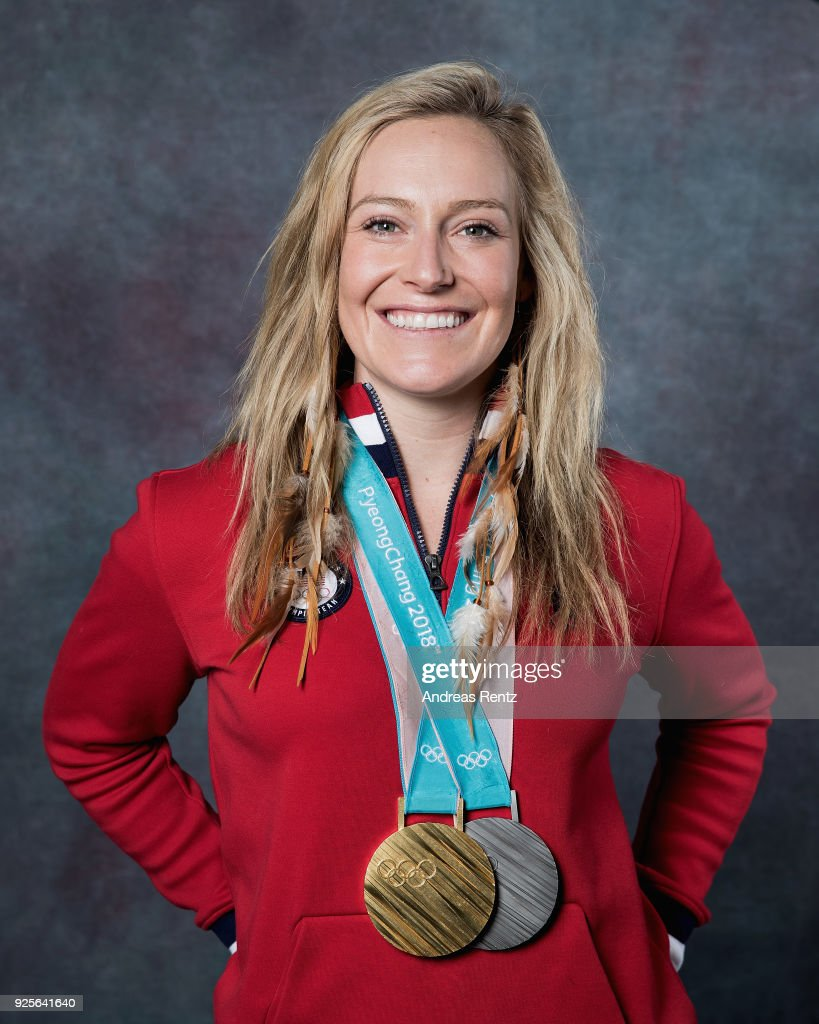 Snowboarder Jamie Anderson of the United States poses for ...