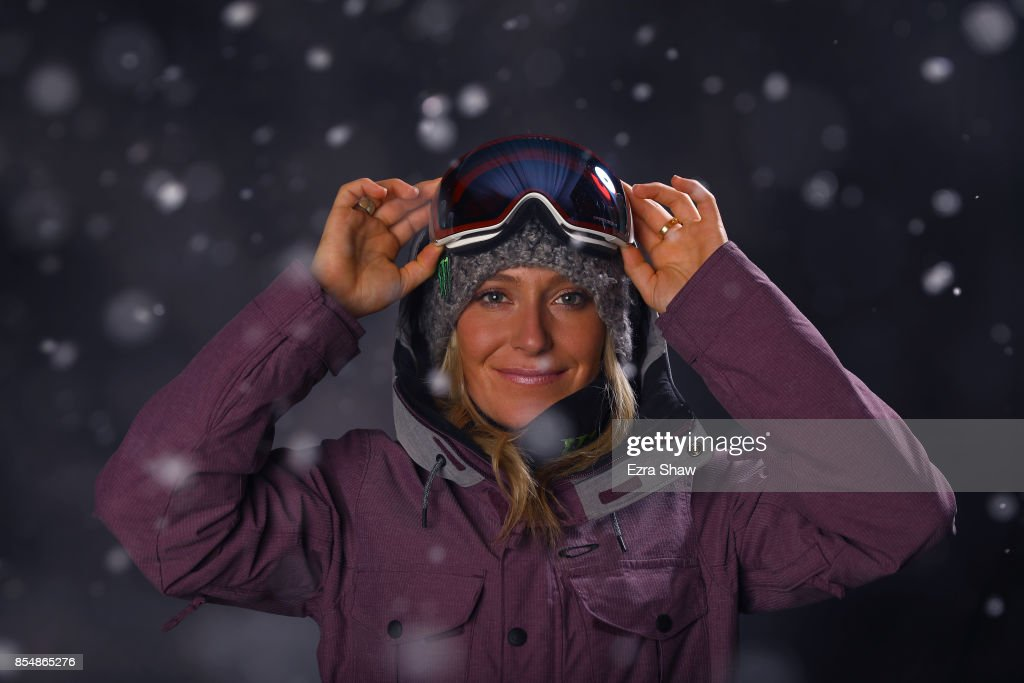 Snowboarder Jamie Anderson poses for a portrait during the ...