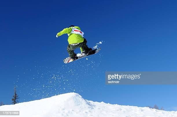 snowboarder jump - big air stockfoto's en -beelden
