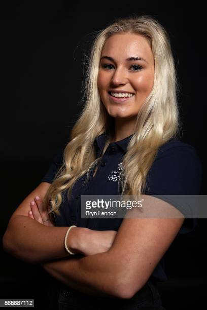 Snowboarder Katie Ormerod of Great Britain poses for a photo during the British Ski and Snowboard Media Day on October 31 2017 in Hemel Hempstead...