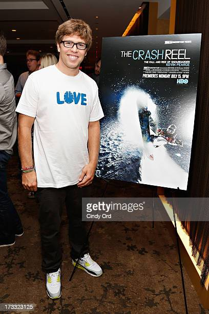 Snowboarder Kevin Pearce attends HBO's Crash Reel New York Screening at HBO Theater on July 11 2013 in New York City