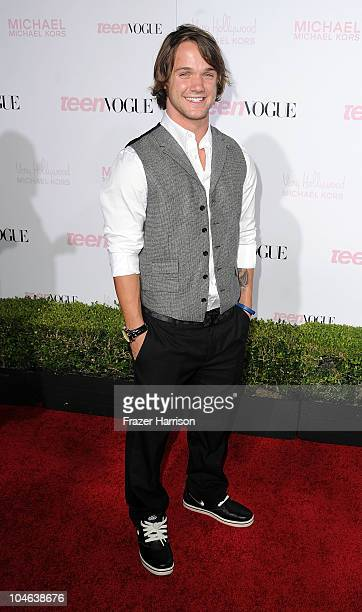 Snowboarder Louie Vito arrives at The 8th Annual Teen Vogue Young Hollywood Party at Paramount Studios on October 1 2010 in Los Angeles California