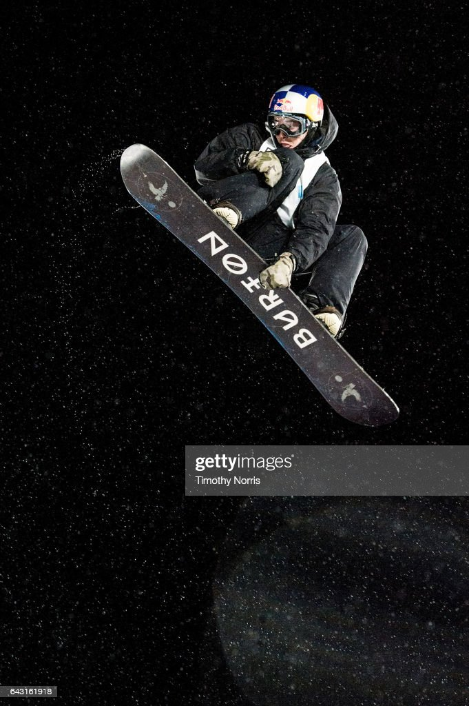Snowboarder Mark McMorris competes during Air + Style Los Angeles 2017 at Exposition Park on February 19, 2017 in Los Angeles, California.