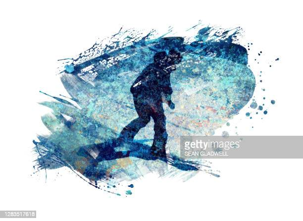 snowboarder painting - painted image stock pictures, royalty-free photos & images