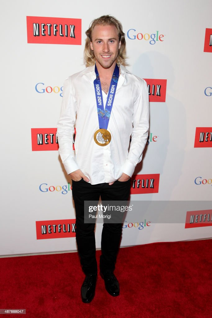 Snowboarder Sage Kotsenburg walks the red carpet at Google/Netflix White House Correspondent's Weekend Party at United States Institute of Peace on May 2, 2014 in Washington, DC.