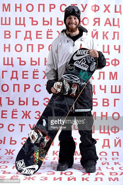 Snowboarder Scotty Lago poses for a portrait during the USOC Media Summit ahead of the Sochi 2014 Winter Olympics on October 2 2013 in Park City Utah