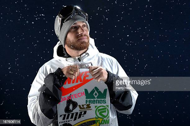 Snowboarder Scotty Lago poses for a portrait during the USOC Portrait Shoot on April 26 2013 in West Hollywood California