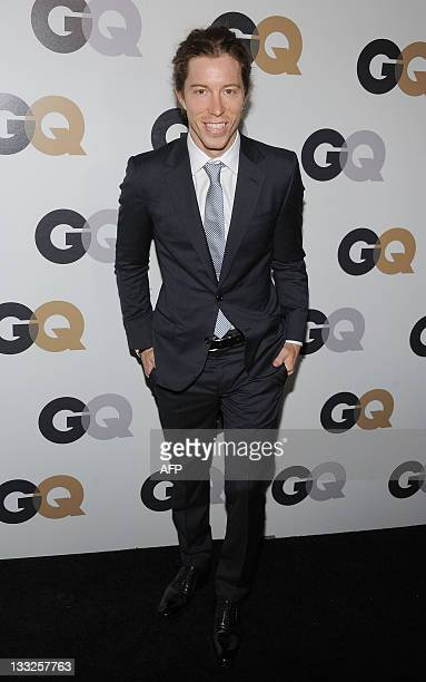 Snowboarder Shaun White attends the GQ Men of the year party at the Chateau Marmont in Hollywood California on November 17 2011 AFP PHOTO/ANGELA WEISS