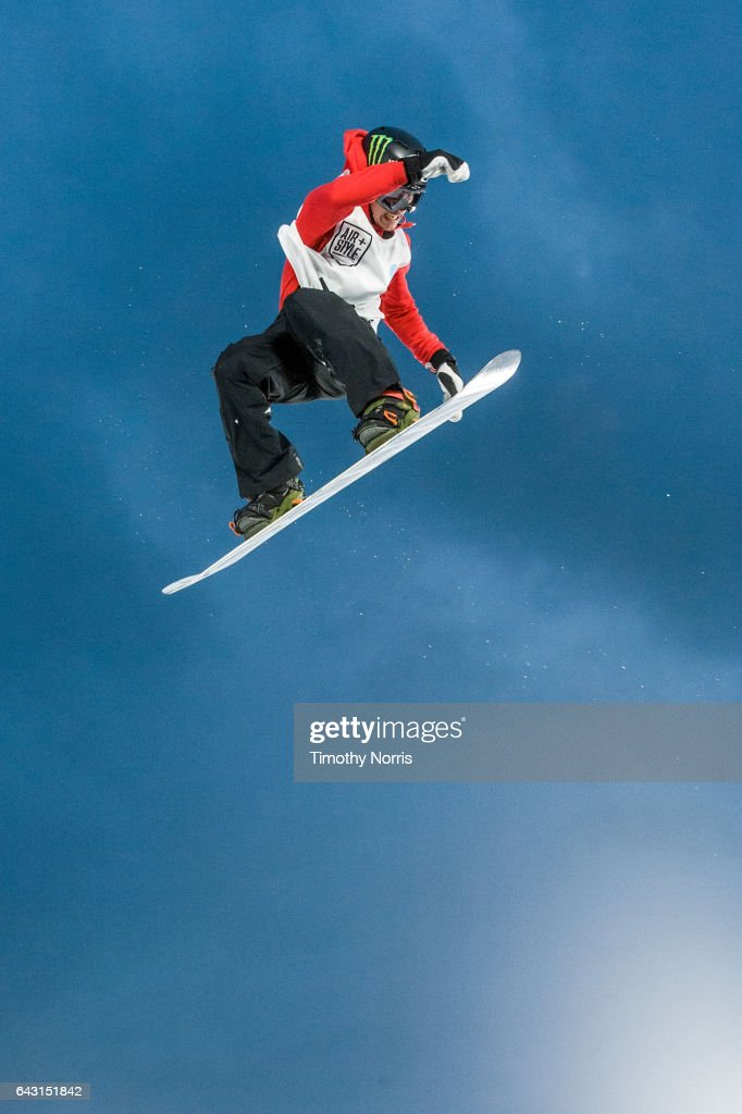 Snowboarder Sven Thorgren competes during Air + Style Los Angeles 2017 at Exposition Park on February 19, 2017 in Los Angeles, California.