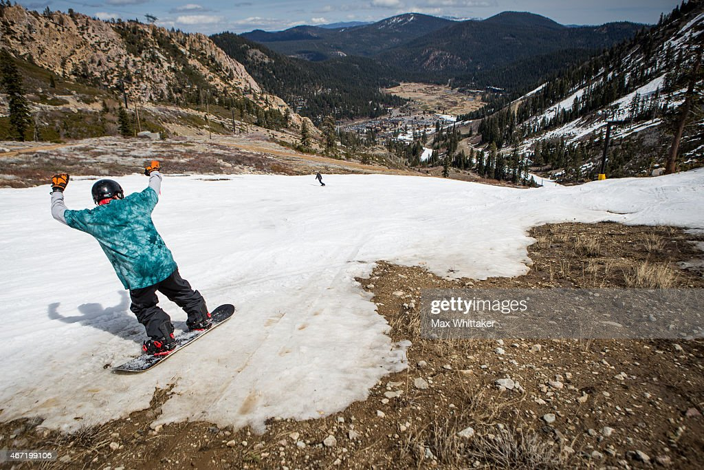 Dismal Snowpack In Sierra Mtns. Worsens State's Four-Year Drought, And Takes Toll On Tahoe-Area Ski Industry : News Photo