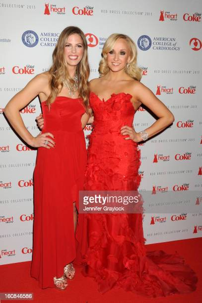 Snowboarder Torah Bright and Olympic gymnast Nastia Liukin attend The Heart Truth 2013 Fashion at Hammerstein Ballroom on February 6 2013 in New York...