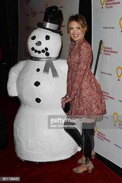 Snowboarder/actress Amy Purdy arrives at Children's Miracle Network Hospitals' Winter Wonderland Ball at Avalon on December 12 2015 in Hollywood...