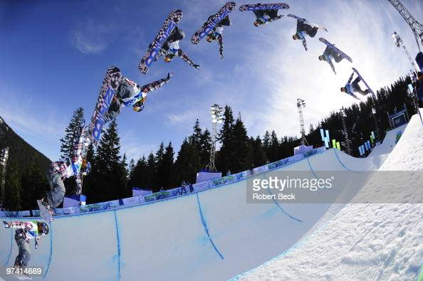 USA Shaun White in action during Mens Snowboard Halfpipe
