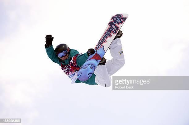 2014 Winter Olympics Australia Kent Callister in action during Men's Snowboard Halfpipe at Rosa Khutor Extreme Park Krasnaya Polyana Russia 2/11/2014...
