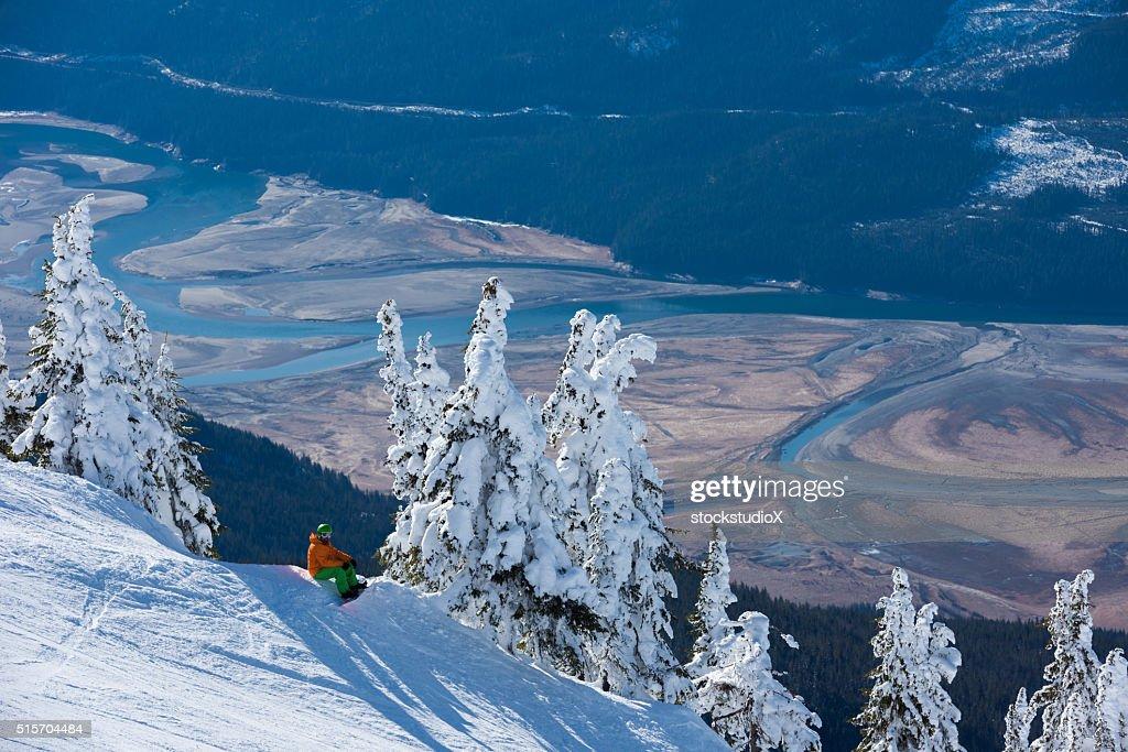 Snowboarding at Revelstoke Mountain Resort : Stock Photo