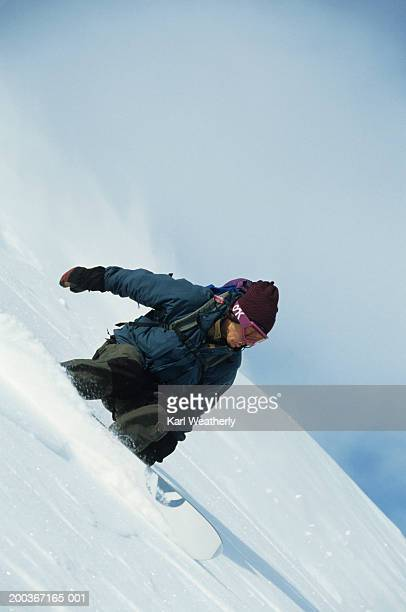 snowboarding, chugach mountains, alaska, usa - chugach state park stock pictures, royalty-free photos & images