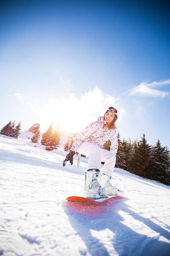 Snowboarding Downhill - gettyimageskorea