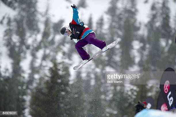 FIS World Cup France Anne Sophie Pellissier in action during Women's Halfpipe Finals at Cypress Mountain West Vancouver Canada 2/14/2009 CREDIT Bob...