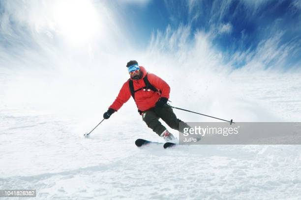 snowboarding in kashmir - downhill skiing stock pictures, royalty-free photos & images