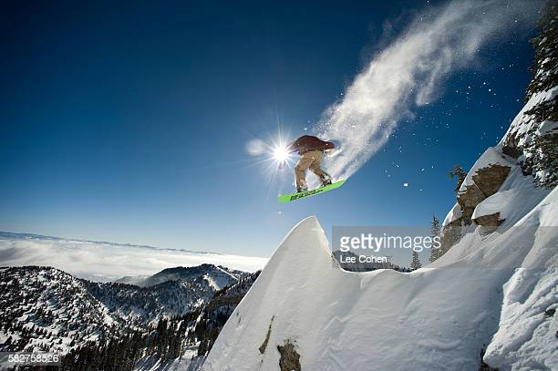 snowboarding in utah - extreme sports stock pictures, royalty-free photos & images