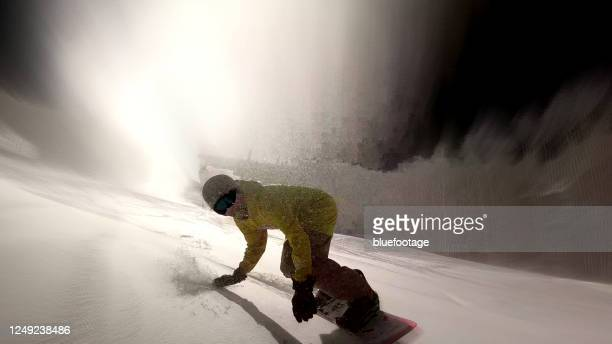 snowboarding - bluefootage stock pictures, royalty-free photos & images