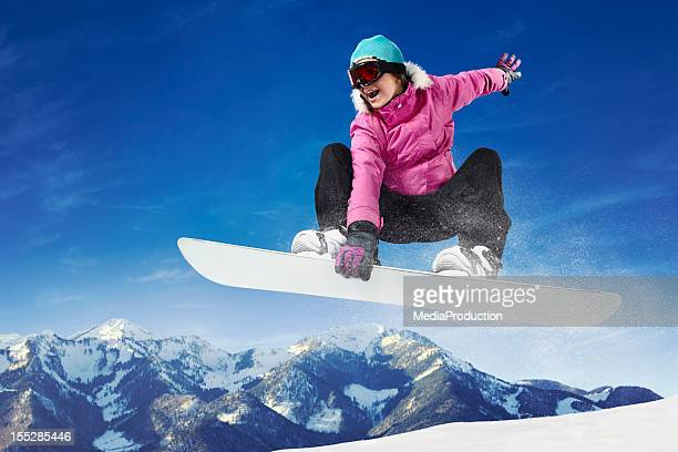 snowboarding - female skier stock pictures, royalty-free photos & images