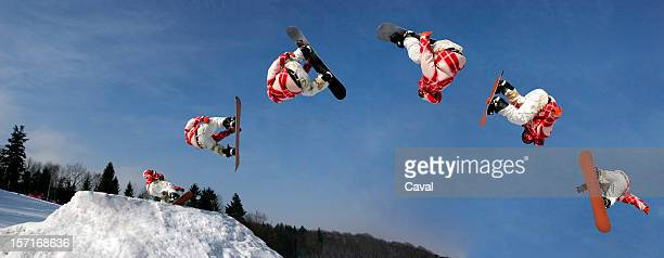 snowboarding - sequential series stock pictures, royalty-free photos & images