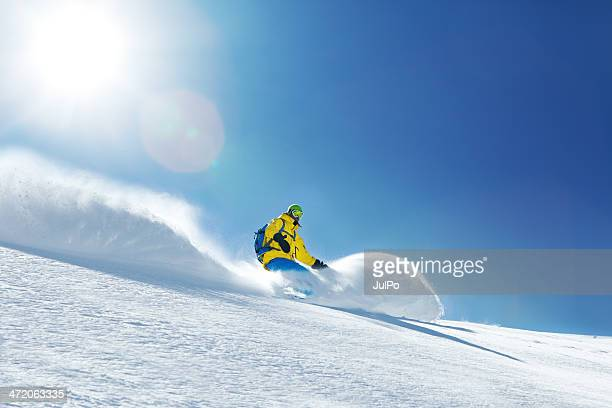 snowboarding - powder snow stock pictures, royalty-free photos & images