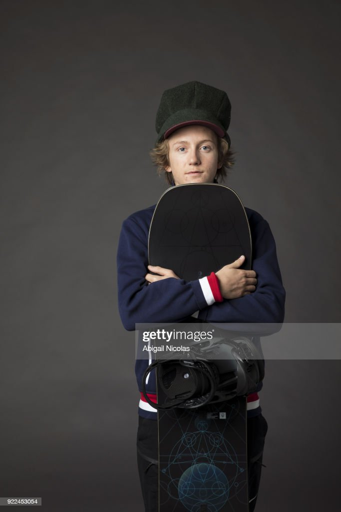 Portrait of USA Red Gerard posing during photo shoot at Time Inc. Studios. Gerard won gold in the Men's Slopestyle during the 2018 Winter Olympics in PyeongChang. Abigail Nicolas TK1 )