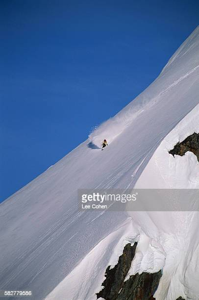 snowboarding the chugach mountains - chugach mountains stock pictures, royalty-free photos & images