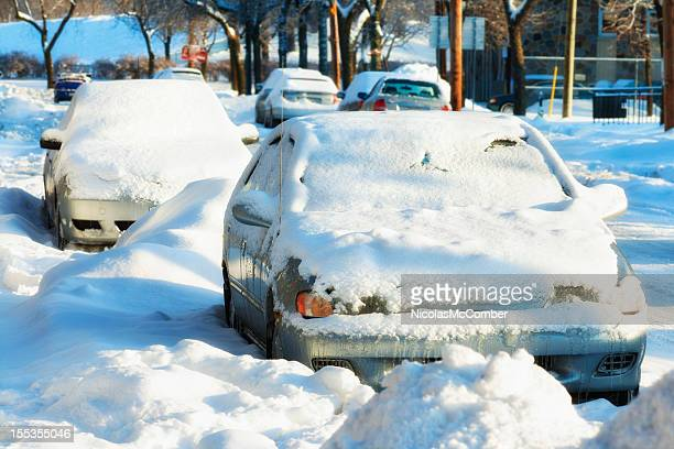Snowbound Cars