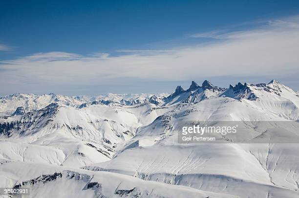 Snow-capped alpine peaks