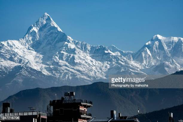 Snow-capped Macha Puchare & AnnapurnaIII