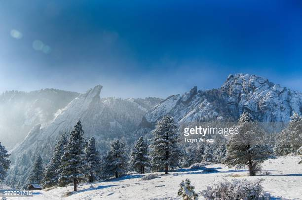 Snowcapped mountains, Boulder, Chautauqua county, Colorado, USA