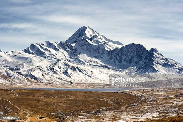 Snowcapped mountains in Cordillera Real