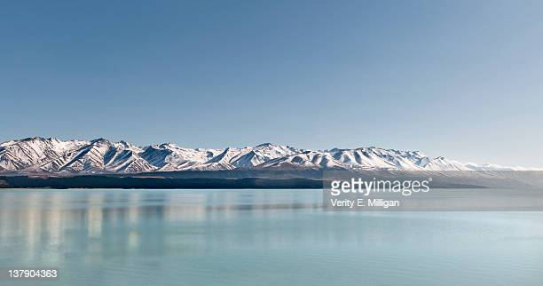 Snow-capped mountains reflections on Lake Wanaka