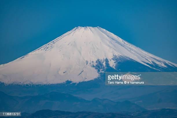 Snow-capped Mt. Fuji in Japan
