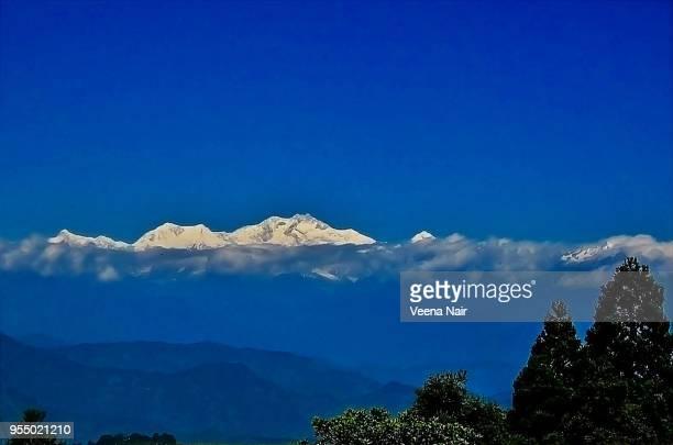 Snowcapped Mt. Kanchendzonga/Kanchenjunga-view from Darjeeling