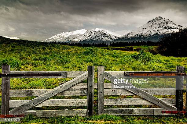 Snow-Capped New Zealand Mountains