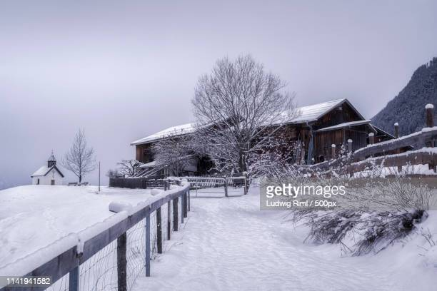 snow-capped - laengenfeld stock pictures, royalty-free photos & images