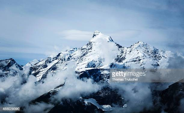 Snowcapped summit of the Grosses Wiesbachhorn mountain in the Austrian Alps with the thirdhighest peak of the Hohe Tauern range on August 25 in Bad...