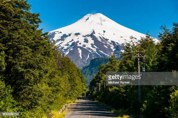Snowcapped volcano Villarrica, Pucon, southern Chile, Chile