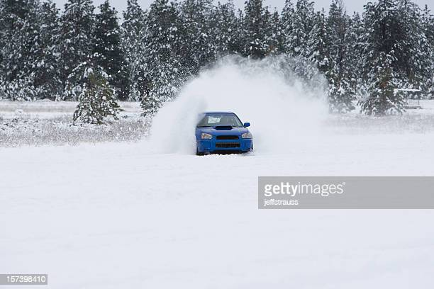 snowcross race - rally car racing stock pictures, royalty-free photos & images