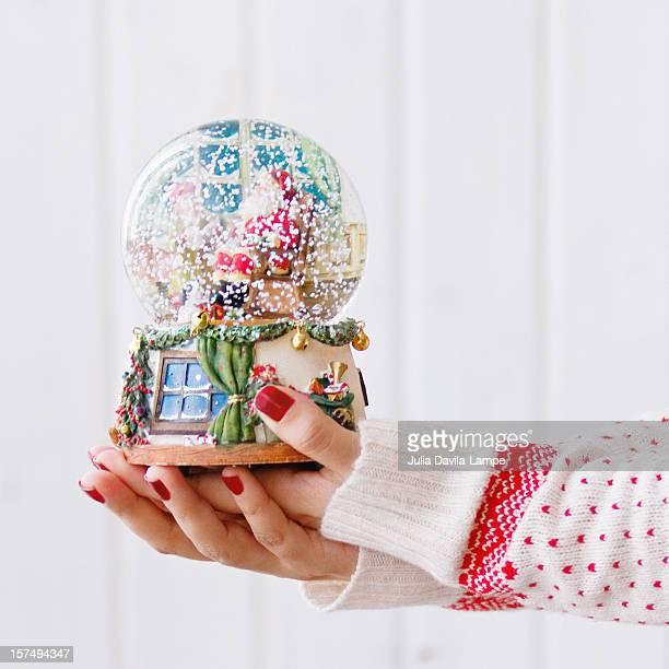 Snowdome in her hands