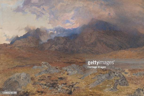 Snowdon, after an April Hailstorm [or Snowdon through Clearing Clouds], circa 1857. Artist Alfred William Hunt.