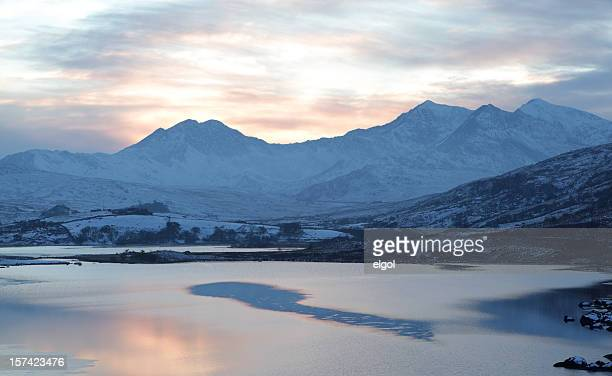 Snowdon and Winter Sunset